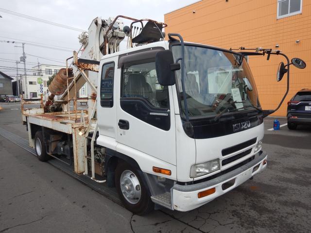 いすゞ フォワード  穴掘建柱車 アイチ 上物型式D70A 平成17年8月製造