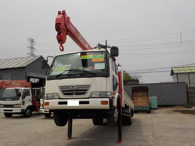 UDトラックス 4トン4段クレーン ロングジャッキ ラジコン付