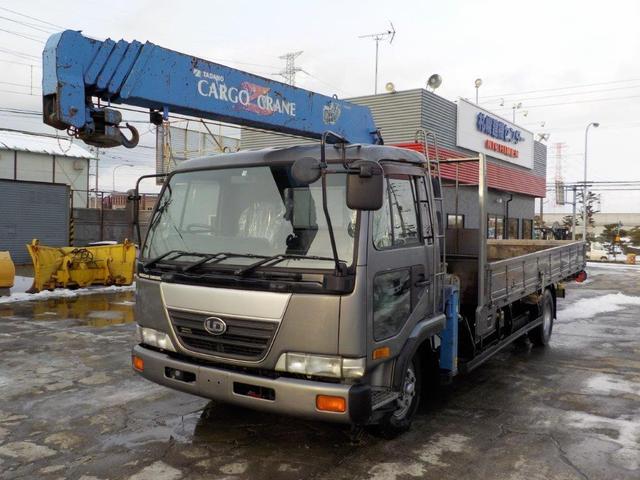 UDトラックス 4トン5段クレーンワイドロング ラジコン 差違いアウトリガー
