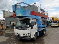 エルフトラック11.9m高所作業車 スチールバケット