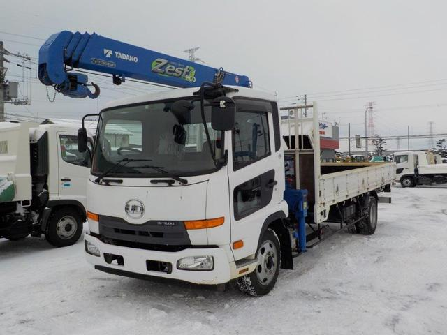 UDトラックス 4トン4段クレーン ロング ラジコン付