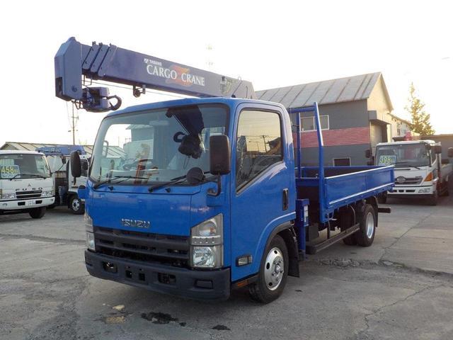 いすゞ エルフトラック 2トン4段クレーン ロング ラジコン付