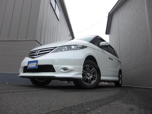 ホンダ エリシオン GエアロHDDナビパッケージ 4WD スタッドレスタイヤ付き