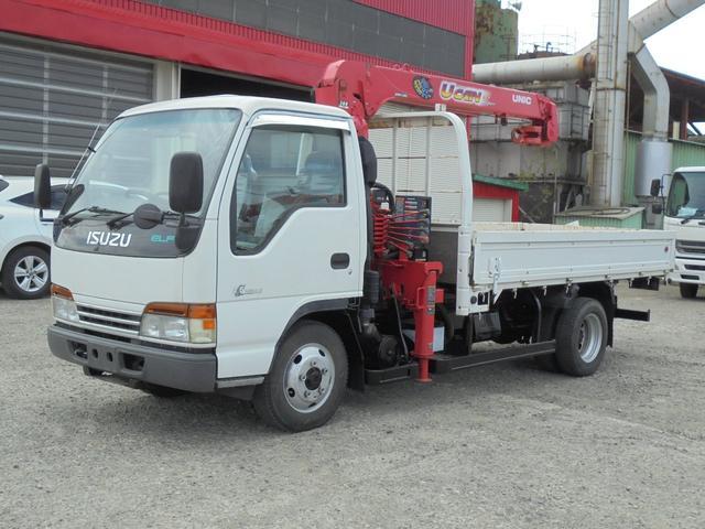いすゞ エルフトラック 2トン 4WD クレーン取り外し車 (なし)