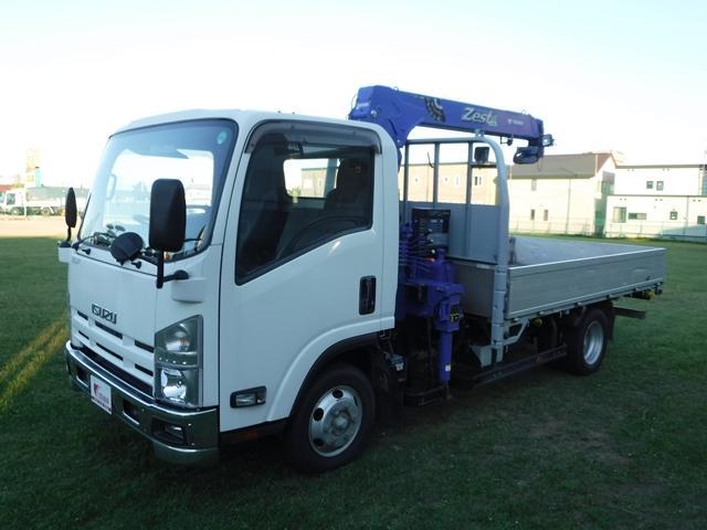 いすゞ エルフトラック タダノ3段クレーン ラジコンフックイン 4WD