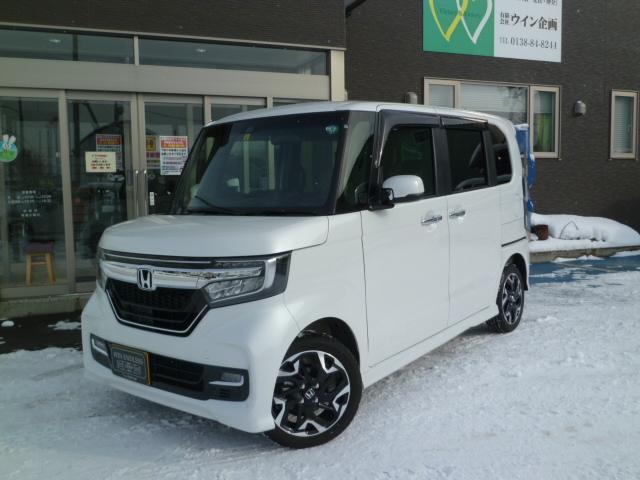 ホンダ N-BOXカスタム G・Lターボホンダセンシング 4WD・社外ナビ・TV・Bカメラ