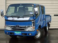 ダイナトラックWキャブシングルジャストロー 1t 4WD 社外CD ETC