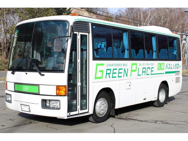 三菱ふそう 三菱ふそう エアロミディ 小型バス 29人 本州仕入サビ無 レンタカー