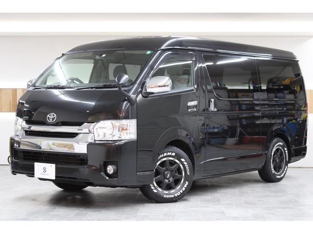 トヨタ ハイエースワゴン GL 4WD 電動スライドドア 10人乗り 新品YOKOHAMAタイヤ 新品LEDヘッドライト 新品ハンドル リアヒーター リアエアコン 本州仕入れ トヨタディーラー法定点検整備済