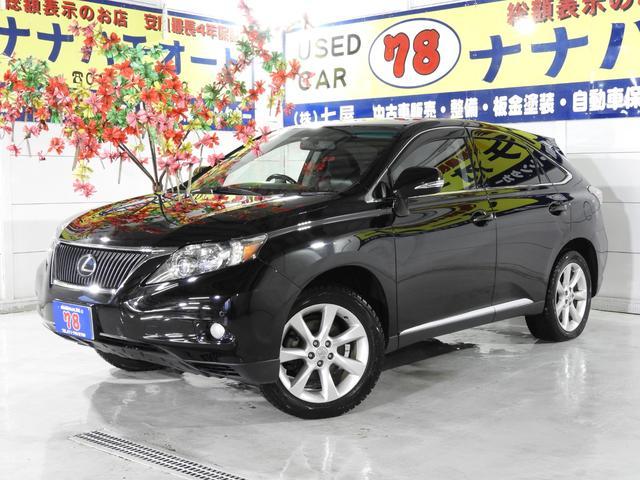 レクサス RX350 verL エアサス プリクラ SR 黒革 4WD