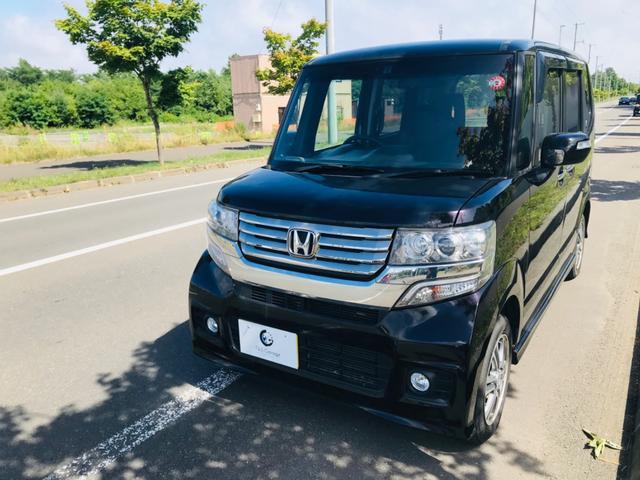 ホンダ N-BOX+カスタム G・Lパッケージ 4WD・社外ナビTV・パワースライドドア・ETC・エンジンスターター
