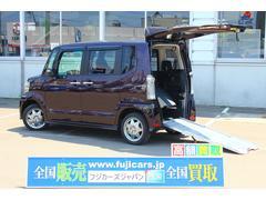 N BOX+カスタムG 福祉車輌 スローパー 4WD 純正メモリーナビ