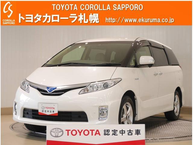 トヨタ エスティマハイブリッド G 4WD HDDナビ・バックモニター付