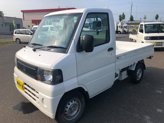 三菱 ミニキャブトラック Vタイプ 4WD/エアコン付き/パワステ/車検令和5年5月