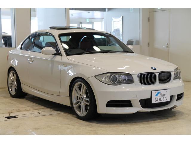 BMW 135i赤革6MT直6ターボSR純正ナビETC純正18AW