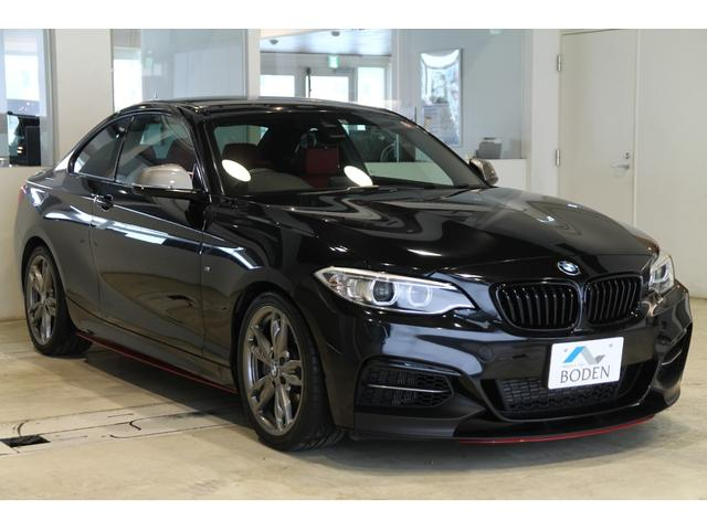 BMW M235iクーペ 純正18AW純正ナビBカメラ赤革ETC黒グリルフロントリップ