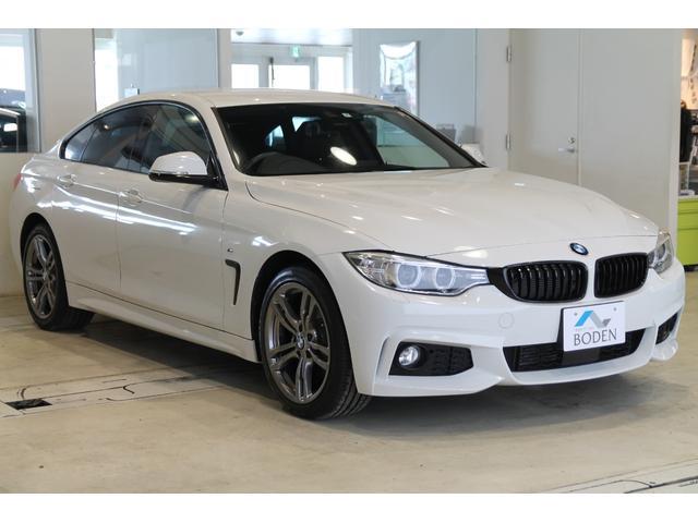 BMW 420iグランクーペ スタイルエッジxDrive 黒革ACC純正18AW黒グリルBカメラ純正ナビ
