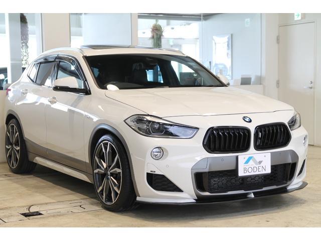 BMW xDrive 20i MスポーツX SR・純正OP20AW・後席モニター・地デジ・社外エアロ・ダウンサス・PWバックドア・黒グリル・黒革・ヘッドアップディスプレイ