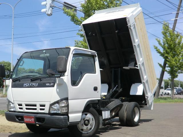 いすゞ エルフトラック 2トンダンプ 高床 ファームダンプ 差し枠 深ダンプ 強化ダンプ 本州仕入れ 荷台塗装済み 車両総重量5t未満