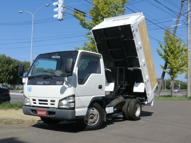 いすゞ エルフトラック 2トンダンプ 高床 ファームダンプ 深ダンプ 差し枠 本州仕入れ 荷台塗装済み
