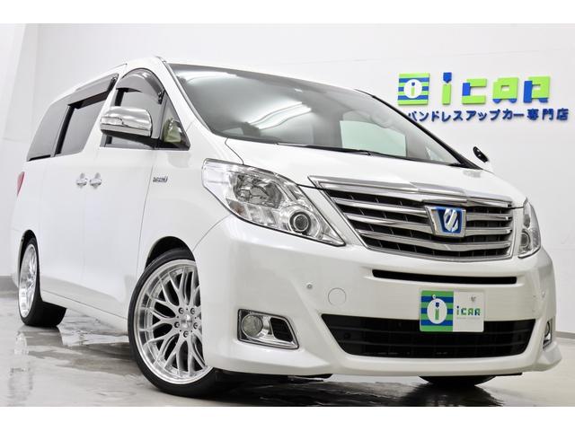 トヨタ G HDDナビ 後席モニター 新品サス 新品タイヤ/20AW
