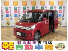 スペーシアカスタムXS 4WD エネチャ アイドルSTOP ナビ TV ABS