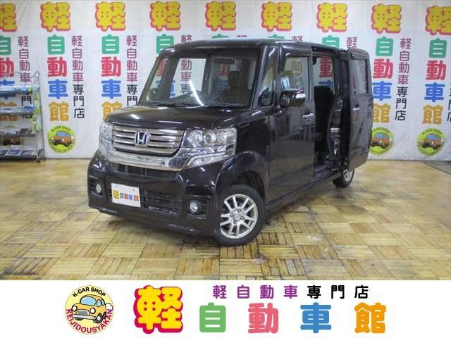 ホンダ N-BOXカスタム G・ターボパッケージ 4WD ナビ TV ABS パワスラ アイドルSTOP スマキー