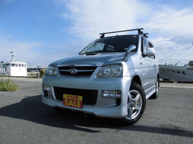 テリオスキッド カスタムX 4WD AT ICターボ タイミングベルト交換済 後期型 東海地方仕入れサビ無し ルーフキャリア 背面タイヤハードケース 純正エアロ リアウイング ワイドドアバイザー ワンオーナー