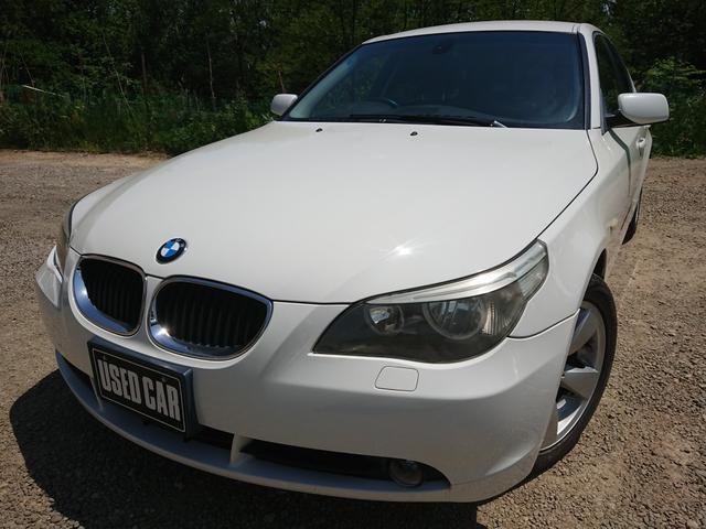 BMW 525i 黒革 ETC 純正DVDナビ 保証付