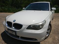 BMW525i 黒革 ETC 純正DVDナビ 保証付