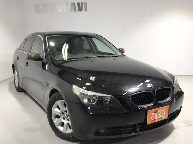 BMW 525iハイライン右ハン黒革ETC純正ナビ電動シート全塗装