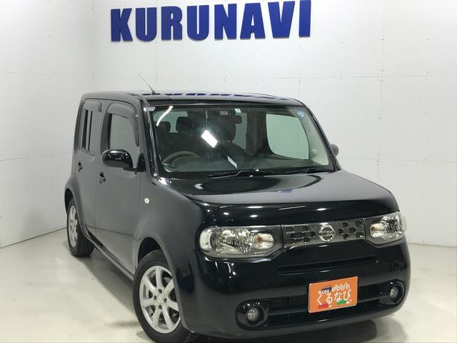 日産 キューブ X 4WDパーティーレッドセレ純ナビTVカメラETCエンスタ
