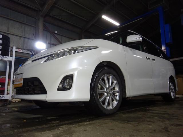 トヨタ 2.4アエラス Gエディション 4WD HDDナビ 地デジ バックカメラ 7人乗り ETC 両側パワースライドドア フリップダウンモニター ワンオーナー クルコン スマートキー プッシュスタート ドアバイザー