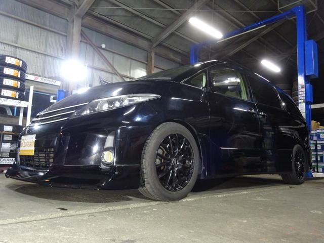 トヨタ エスティマ アエラス 4WD 両側パワースライドドア 8インチナビ フルセグ バックカメラ エアロ TEIN車高調 クルーズコントロール 社外インチAW ETC HID