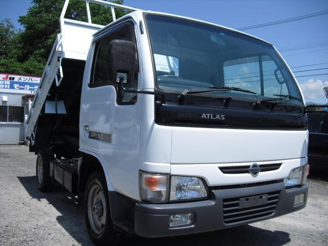 日産 アトラストラック 3.2ディーゼル 4WD ダンプ 1.35t積 エアコン