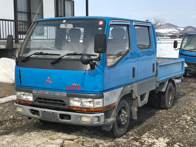 三菱ふそう Wキャブ 平ボディ 4WD トラック AC MT