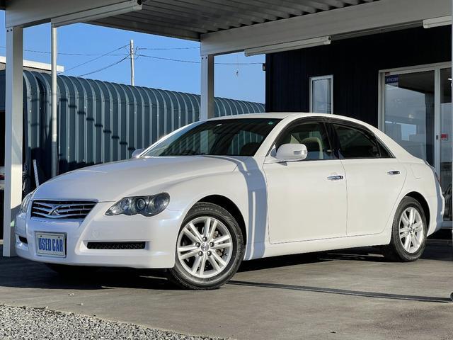 トヨタ マークX 250G Four 4WD バックカメラ ナビ ETC HIDヘッドライト 横滑り防止 純正アルミ フォグライト CD・DVD・データ再生