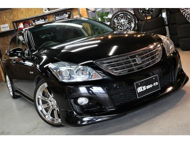 トヨタ クラウンハイブリッド 3.5・車高調・19インチAW・HDDナビ・DVD再生
