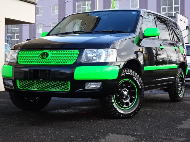 トヨタ サクシードワゴン TX Gパッケージリミテッド 4WD リフトアップ 14AWマッドタイヤ 本州仕入 保証1年 SDナビ TV ETC キーレス
