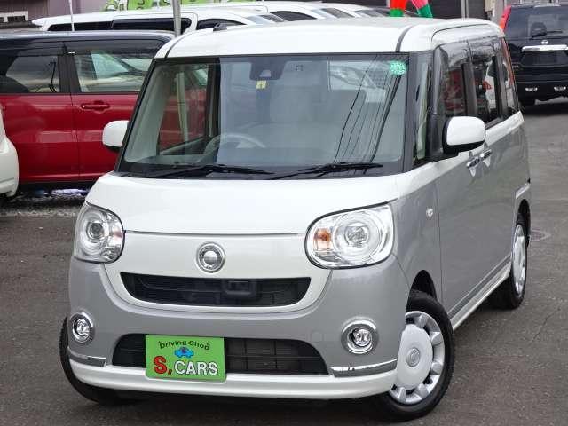 ダイハツ ムーヴキャンバス Gメイクアップ SAII 4WD 本州仕入 保証1年 両側パワスラ スマートキー プッシュスタート メモリナビ
