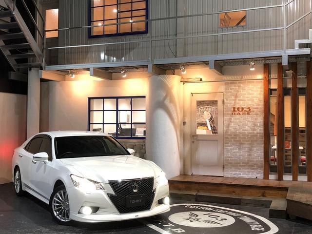 トヨタ アスリートGi-Four モデリスタフロントスポイラー・マフラー/黒革シート/純正HDDナビ