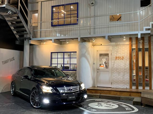 レクサス LS600h バージョンS Iパッケージ 当社ユーザー買取車/白革シート/サンルーフ/純正HDDナビ/クルーズコントロール/レーダー/ドラレコ/WALDフルエアロ/RENOVATIO22インチ/エアサスコントローラー/4WD