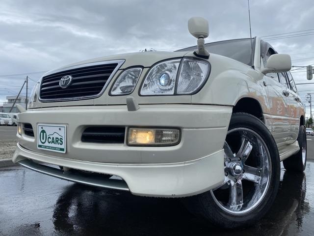 トヨタ ランドクルーザー100 シグナス 1ナンバー エンスタ 外22アルミ  買取レザー