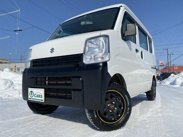 スズキ PA ハイルーフ 5AGS車 4WD 2リフトUP 新14AW/ATタイヤ 自社コンプリ