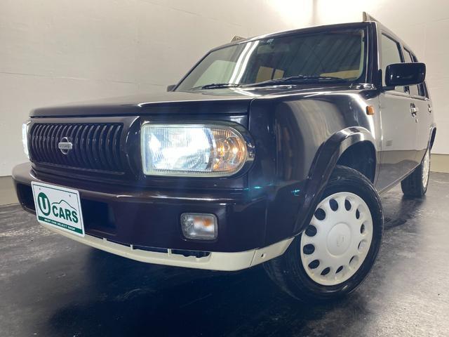 日産 ラシーン タイプII 全塗装チョコブラウン LEDヘッドライト 専用シートカバー 本州仕入