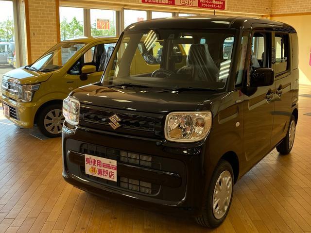 スズキ ハイブリッドG 4WD デュアルセンサーブレーキ スライドドア プッシュ シートヒーター 届出済未使用車