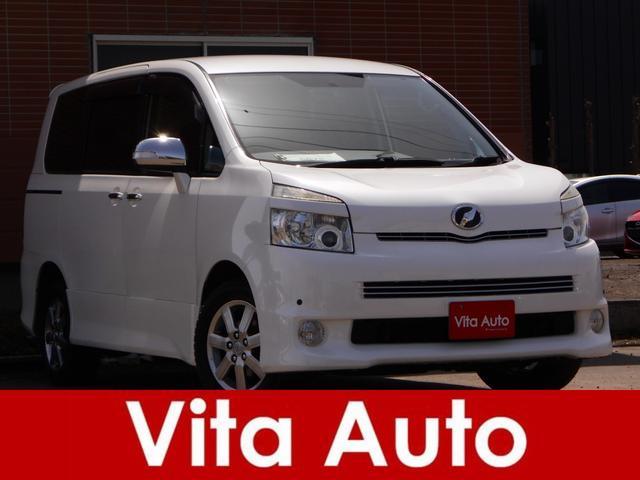 トヨタ ヴォクシー ZS 煌II 4WD HDDナビ リアカメラ 地デジ スマートキー HIDヘッドライト 両側パワースライドドア リモコンエンジンスターター 社外アルミノーマルタイヤセット積込 ETC