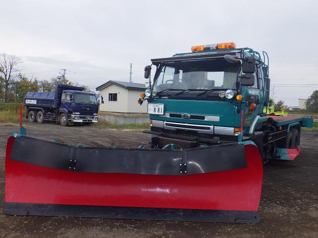 日産ディーゼル 除雪トラック 6×6 アングリングプラウ アングリングG装置