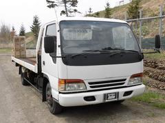 エルフトラックセルフローダー タダノ製 車輌積載車 ウィンチ付き