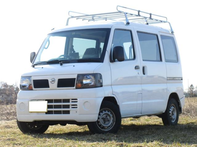 日産 SDハイルーフ 4WD Pガラス ルーフラック付